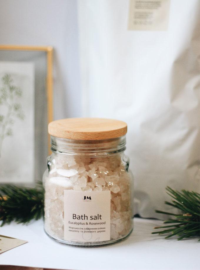 Морська сіль для ванни Евкаліпт та Рожеве дерево